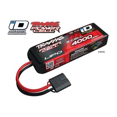 Battery Traxxas ID Lipo Short 3S 11.1V 4000 Mah 25C