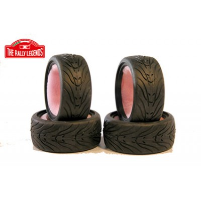 The Rally Legends complete Set 4 Street tyres 40R Grip 1-10 scale EZRL3006