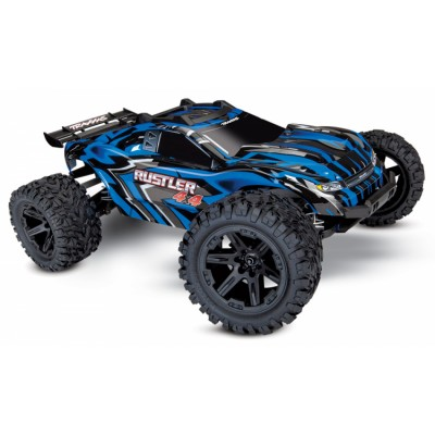 Traxxas Rustler 4x4 Brushed RTR Blue