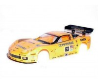 Kyosho Car Body 1 :10 Corvette C6 R Yellow