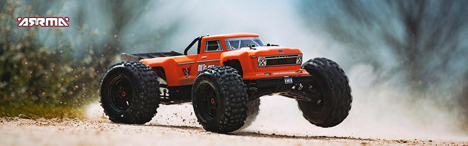Arrma Outcast 6S BLX 4WD Stunt Truck orange rtr 1