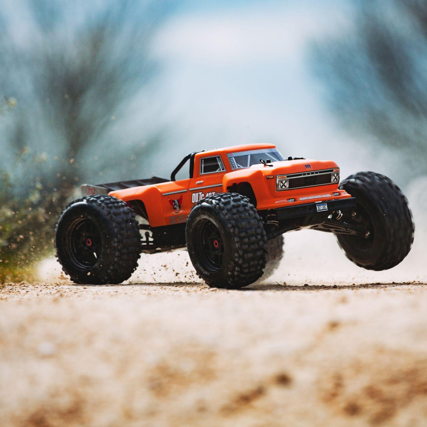 Arrma Outcast 6S BLX 4WD Stunt Truck orange rtr 3