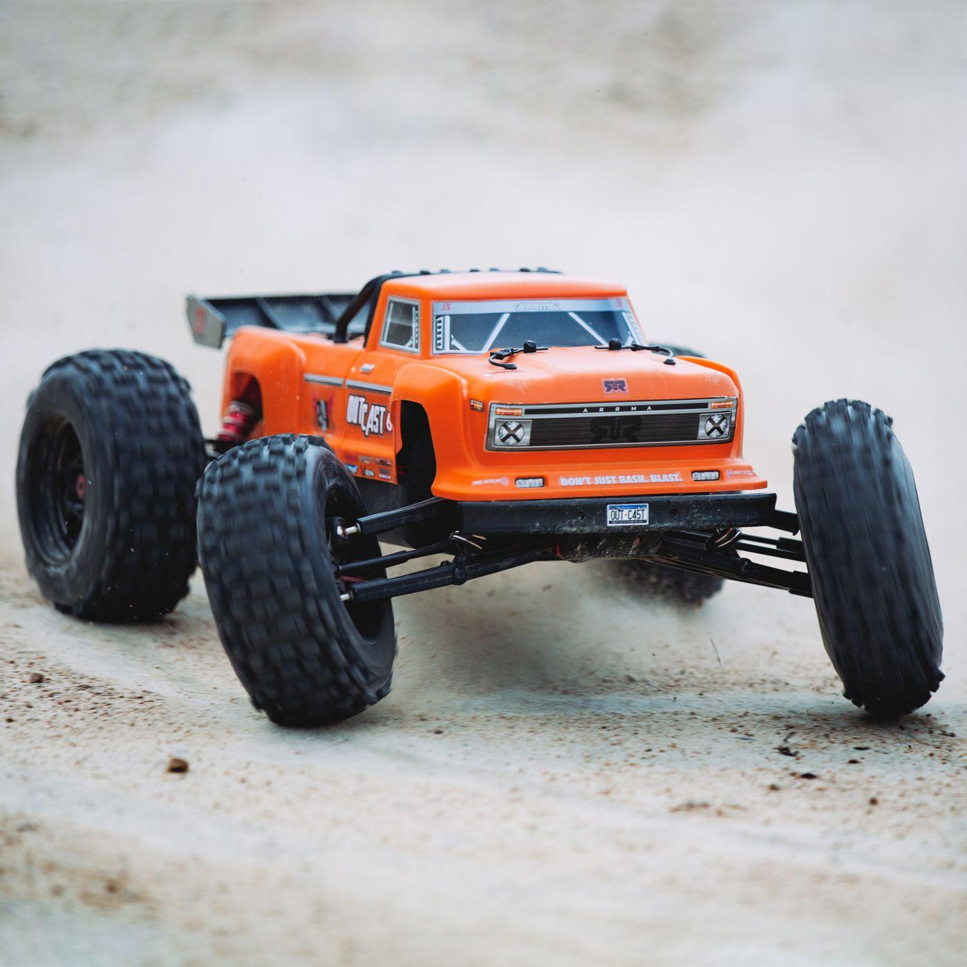 Arrma Outcast 6S BLX 4WD Stunt Truck orange rtr 6