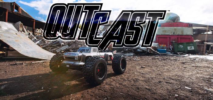 Arrma Outcast 6S BLX 4WD Stunt Truck rtr 1