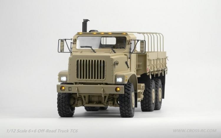 Cross RC Camion Trial 6x6 in Metallo TC6 Kit 01