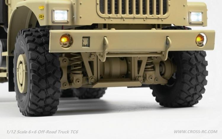 Cross RC Camion Trial 6x6 in Metallo TC6 Kit 04