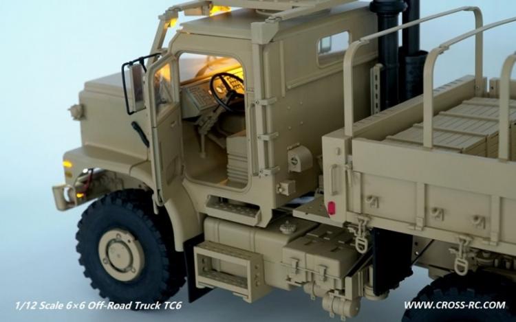 Cross RC Camion Trial 6x6 in Metallo TC6 Kit 05