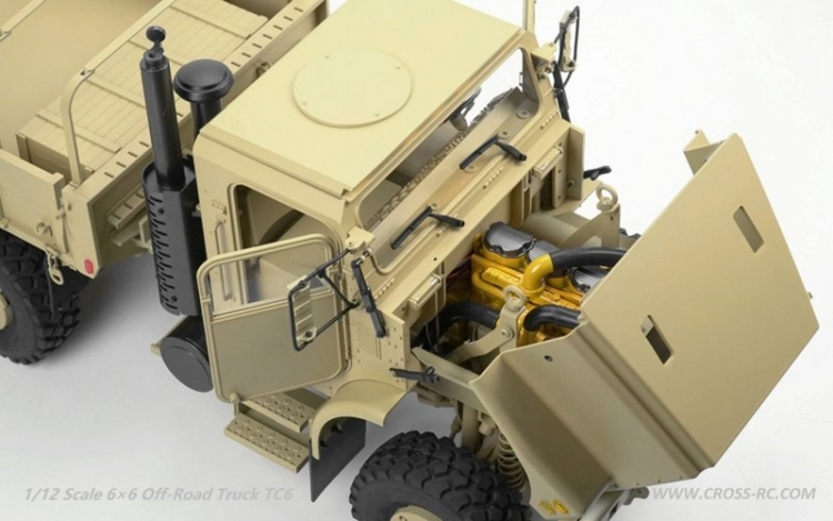 Cross RC Camion Trial 6x6 in Metallo TC6 Kit 06