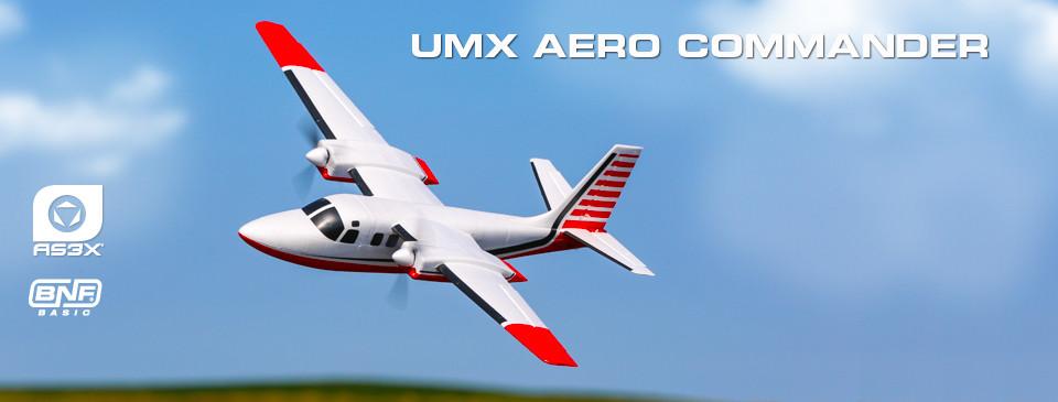 E-flite Aero Commander BNF Basic AS3X SAFE 01
