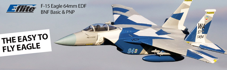 E-flite F-15 Eagle EDF 64mm BNF Basic Safe As3x 01