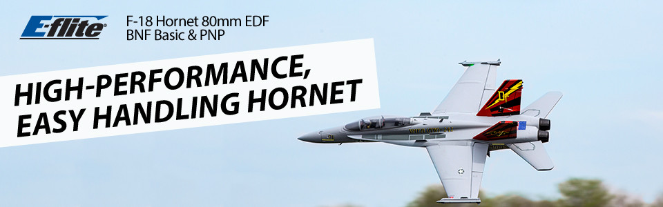 E-flite F-18 Hornet Jet BNF Basic Safe As3x 01