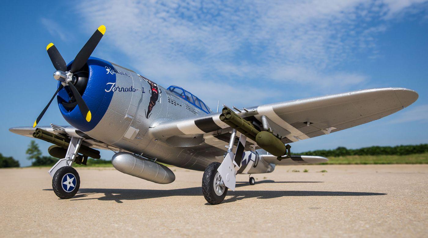E-flite P-47 Razorback Warbird bnf basic safe 01