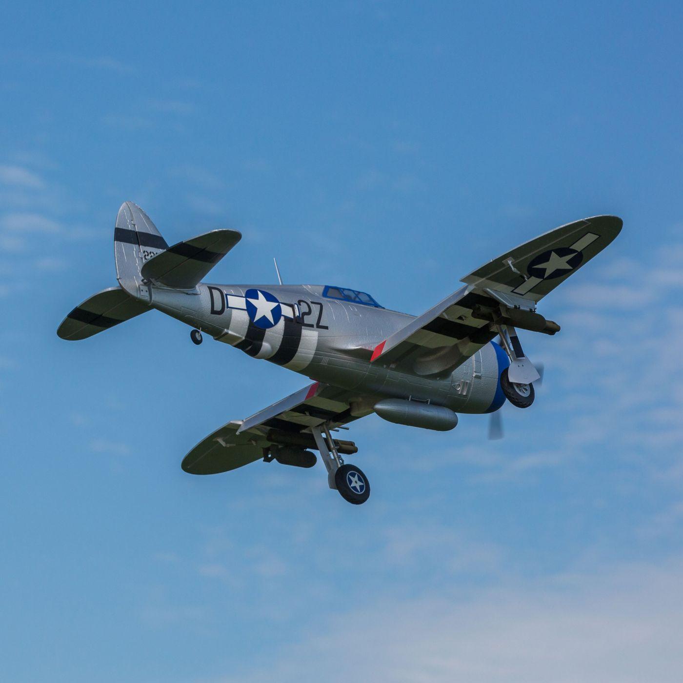 E-flite P-47 Razorback Warbird bnf basic safe 04