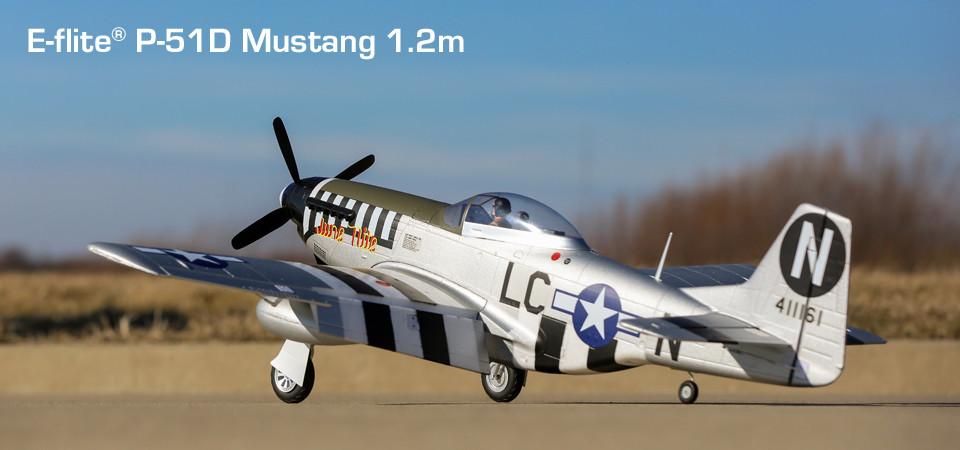E-flite P-51d Mustang Warbird bnf basic safe 01