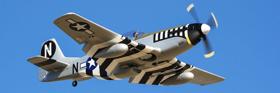E-flite P-51d Mustang Warbird bnf basic safe 02