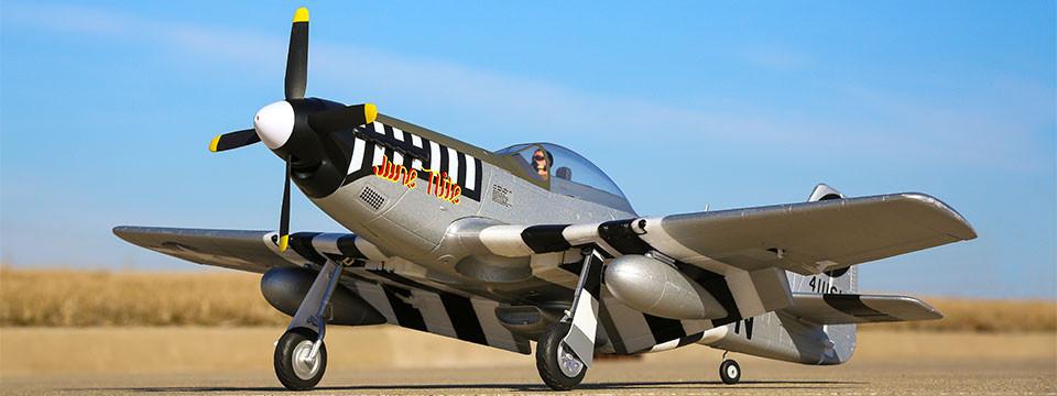 E-flite P-51d Mustang Warbird bnf basic safe 03