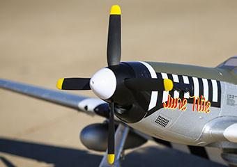 E-flite P-51d Mustang Warbird bnf basic safe 05