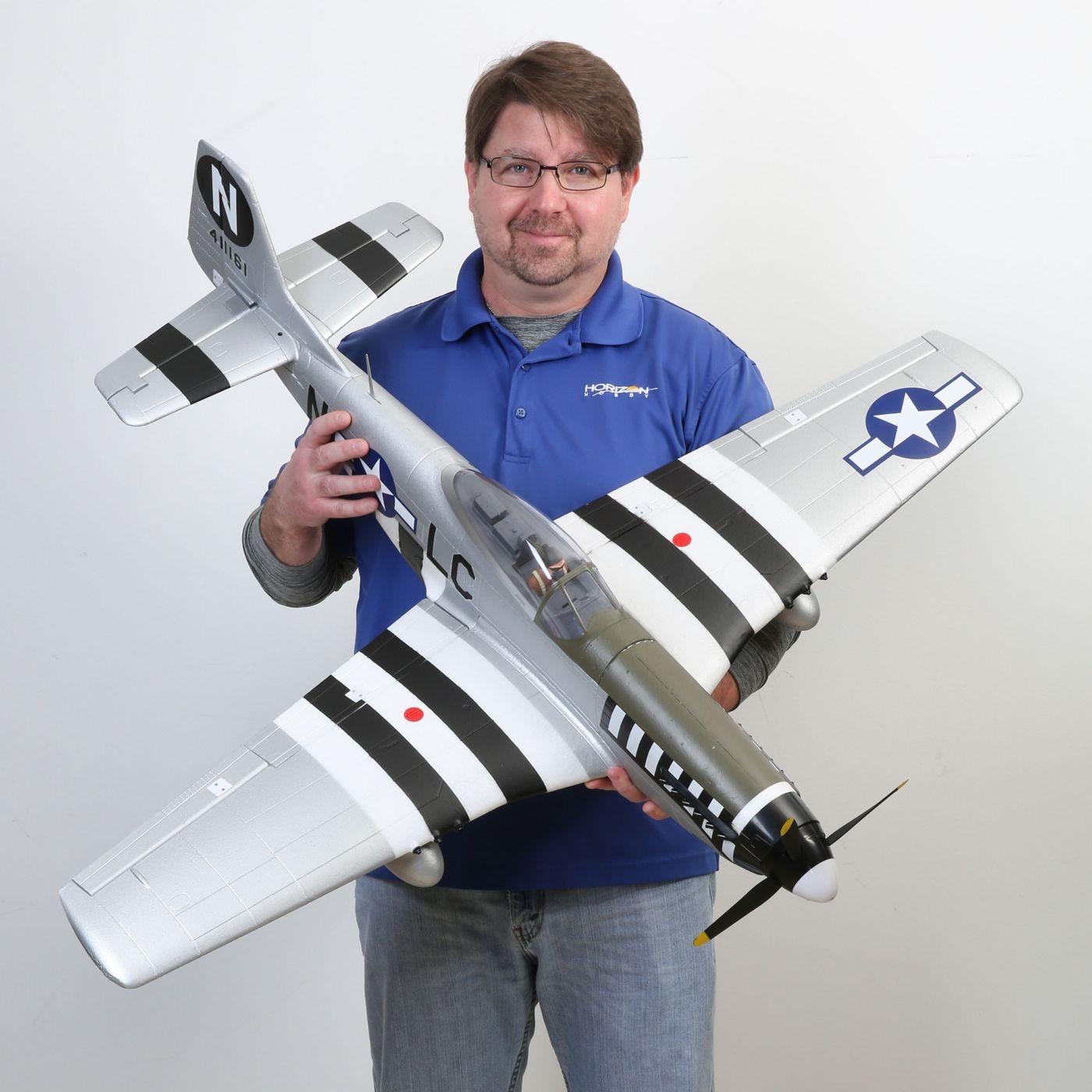 E-flite P-51d Mustang Warbird bnf basic safe 07