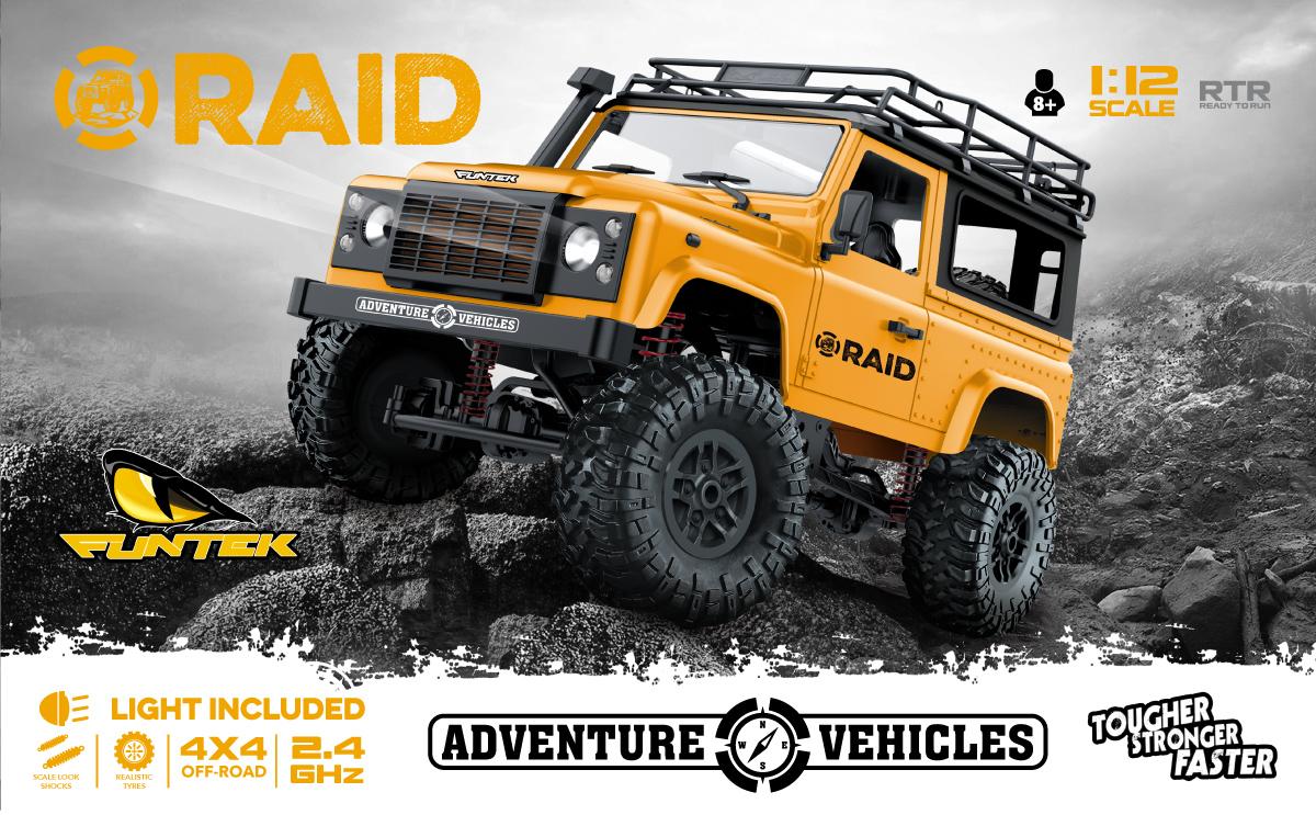 Funtek Raid Mini Scaler Land Rover 1/12 rc rtr 01