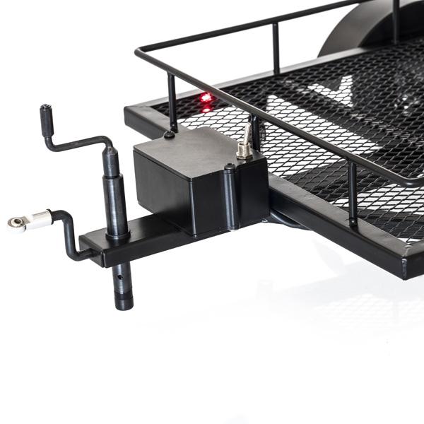 Carrello Scaler RC in metallo 1/10 con rampe e Led 4