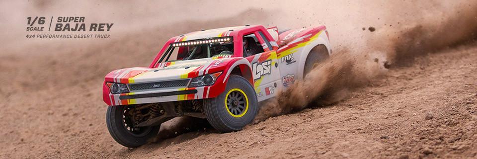 Losi Super Baja Rey Brushless 1/6 4WD Red RTR 1
