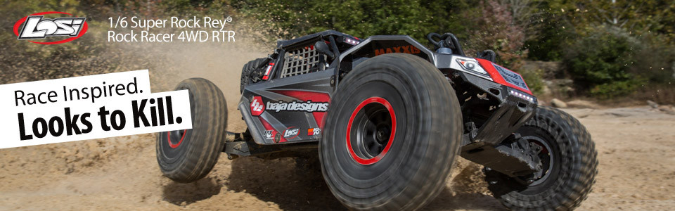 Losi Super Rock Rey Buggy Rock Racer brushless avc rtr 1