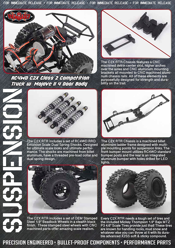 Rc4wd C2X competition scaler crawler 4x4 rtr 8