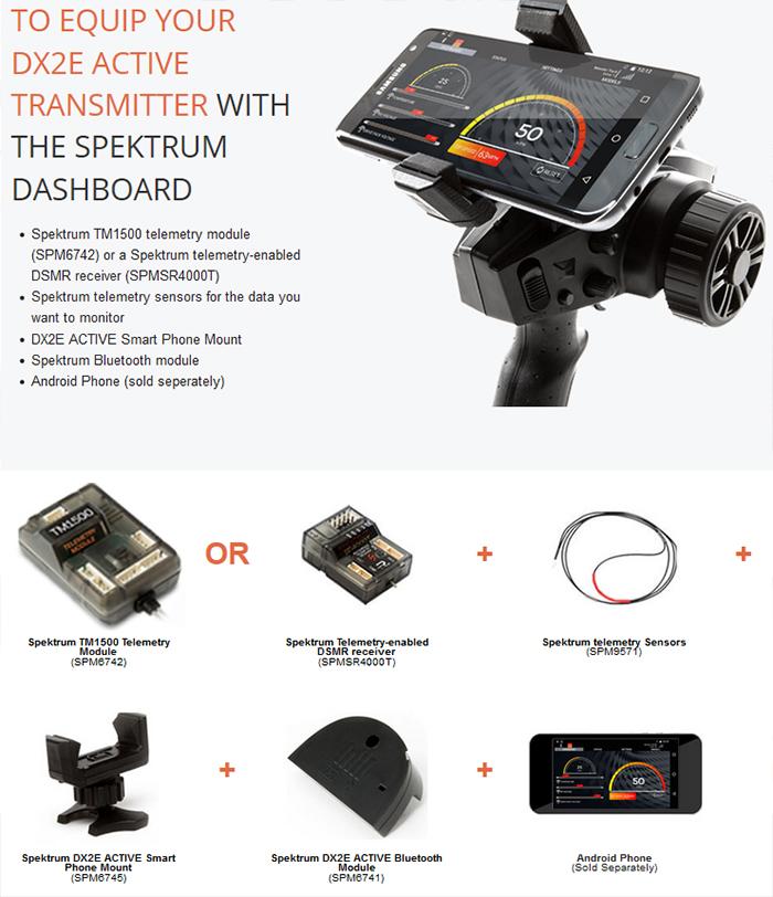Spektrum DX2e Active 2ch Transmitter with SR310 6
