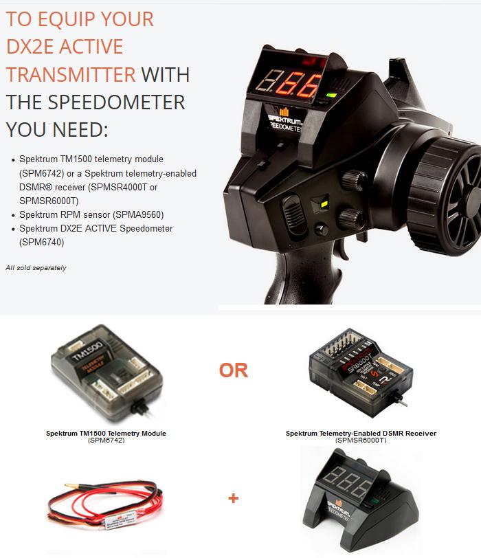 Spektrum DX2e Active 2ch Transmitter with SR310 7