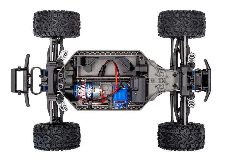 Traxxas Rustler 4x4 Brushed Blue rtr 03