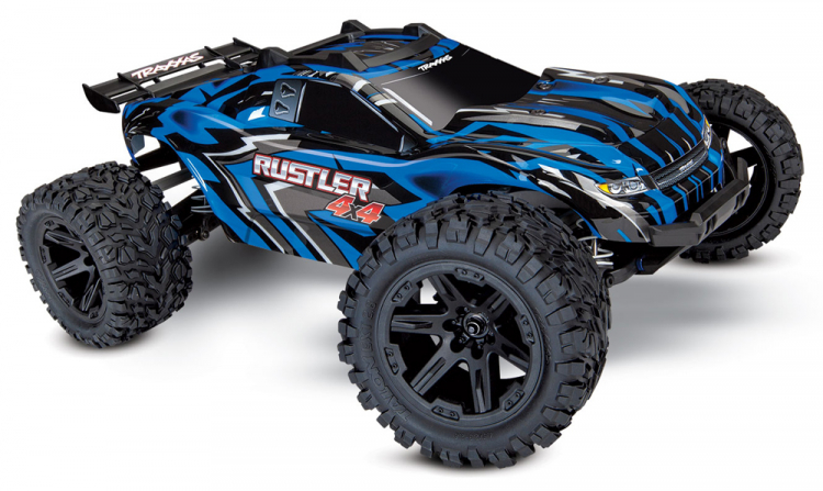 Traxxas Rustler 4x4 Brushed Blue rtr 01