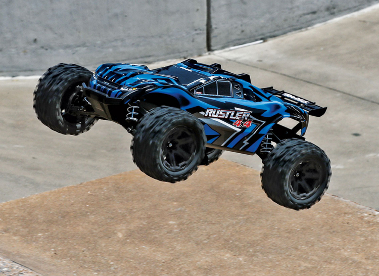 Traxxas Rustler 4x4 Brushed Blue rtr 08