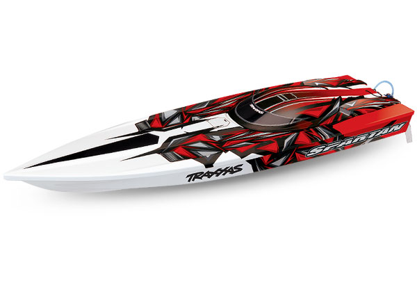 Traxxas Spartan rtr brushless boat tsm red 01